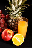 Juice and fruits Royalty Free Stock Photography