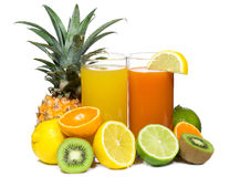 Juice with fruits Stock Images