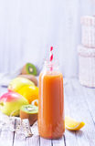Juice. From fruits and vegetables in bottle Stock Image