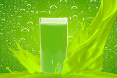 Juice in glass Royalty Free Stock Photo