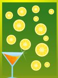 Juice glass. And lemon slices Royalty Free Stock Image