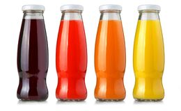 Juice glass bottle Royalty Free Stock Photos