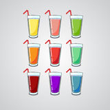 Juice in a glass Stock Images