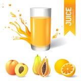 Juice in glass stock illustration