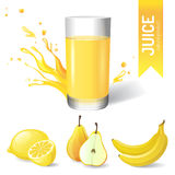 Juice in glass vector illustration