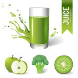 Juice in glass royalty free illustration