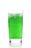 Juice in a glass with ice Stock Photo