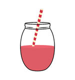 Juice glass  icon. Organic and Healthy food design.  Stock Photo