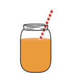 Juice glass  icon. Organic and Healthy food design.   Stock Images