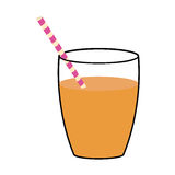 Juice glass  icon. Organic and Healthy food design.  Royalty Free Stock Image