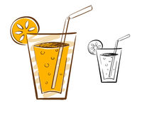 Juice Glass Illustration Stock Afbeeldingen