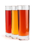 Juice glass mix Royalty Free Stock Image
