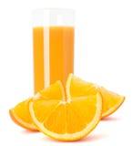 Juice glass and orange fruit Royalty Free Stock Image