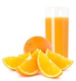 Juice glass and orange fruit Royalty Free Stock Photo