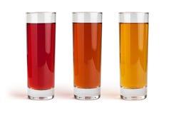 Juice glass set Stock Photography
