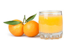Juice glass tangerine Royalty Free Stock Photo