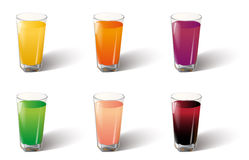 Juice glass vector Stock Photography