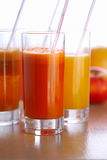 Juice in Glasses. Royalty Free Stock Photography
