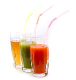 Juice glasses Royalty Free Stock Images