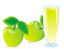 juice from green apple Stock Photography
