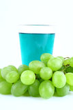 Juice Green Grapes Stock Photo