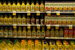 Juice grocery store Royalty Free Stock Images