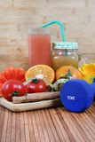 Juice and health Stock Image