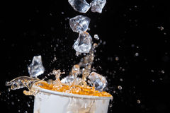 Juice And Ice Stock Images
