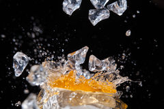 Juice And Ice Royalty Free Stock Photos