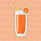 Juice Icon. Carrot Royalty Free Stock Images