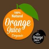 Juice Icon orange organique naturel Photographie stock libre de droits