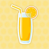 Juice Icon. Orange Royalty Free Stock Image
