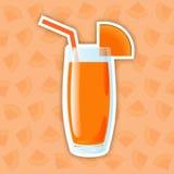 Juice Icon. Pumpkin Stock Image