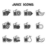 Juice icons Stock Photos