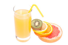 Juice In Glass Royalty Free Stock Photography