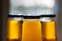 Juice. Jiice in bottle (jrange and apple Stock Photos