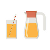 Juice Jug and Mug Royalty Free Stock Images