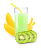 Juice with kiwi and bananas Stock Photography