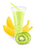 Juice with kiwi and bananas Royalty Free Stock Photo
