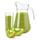 Juice with kiwi Royalty Free Stock Photography