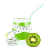 Juice with kiwi and meter Stock Image