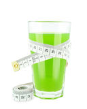 Juice with kiwi and meter Royalty Free Stock Images