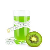 Juice with kiwi and meter Stock Photos