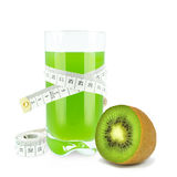 Juice with kiwi and meter Stock Images