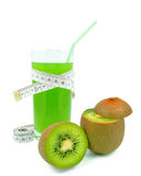 Juice with kiwi and meter Stock Photo