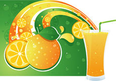 Juice layout Royalty Free Stock Photography