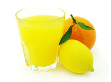 Juice with lemon and orange Royalty Free Stock Photos