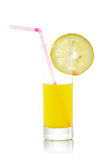 Juice with a lemon slice Royalty Free Stock Photo
