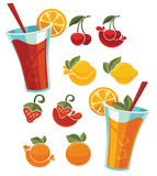 Juice and lemonade Royalty Free Stock Photography