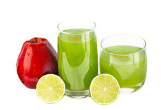 Free Juice ,lime And Apple Royalty Free Stock Photo - 18220175